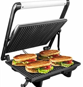 Breakfast sandwich maker panini press