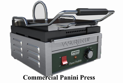 Commercial panini press and grill