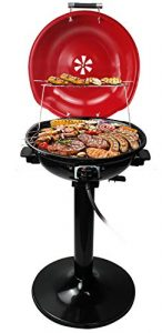 Electric BBQ Grill Techwood 15-Serving Indoor and Outdoor Electric Grill